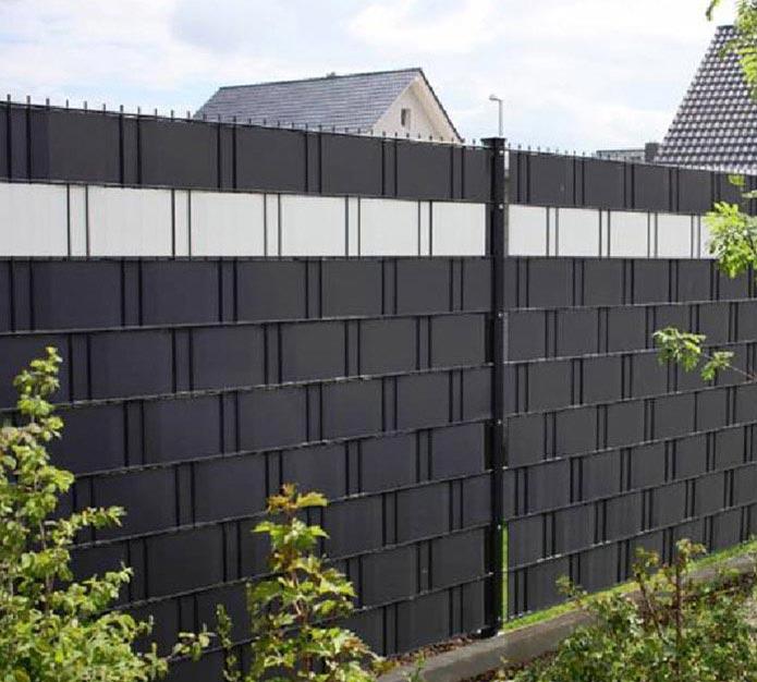 Original referenz bilder blickdichter pvc sichtschutz for Sichtschutz stabmattenzaun